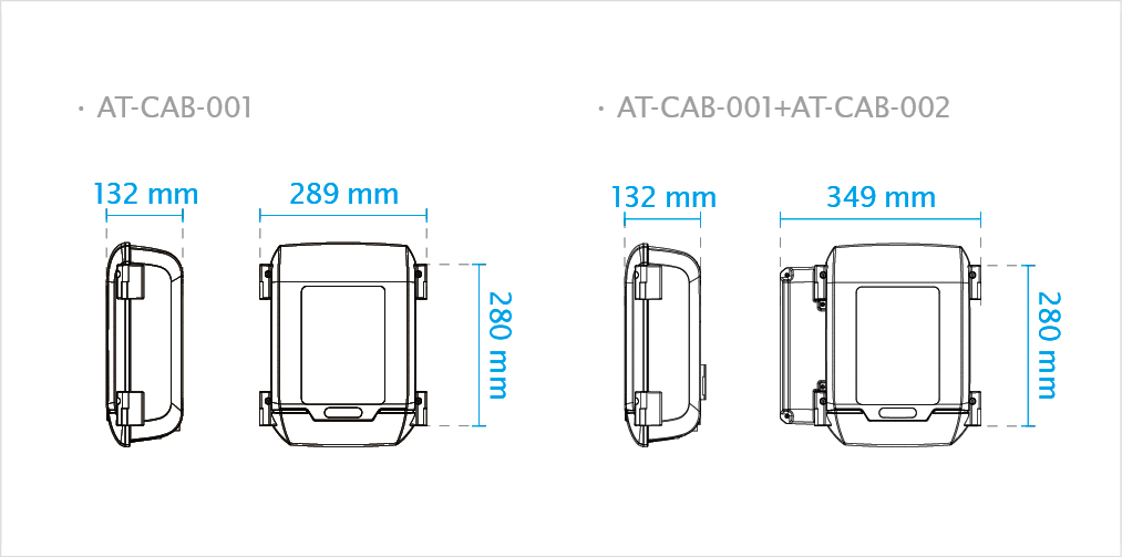 Cabinet Dimensions AT-CAB-001+AT-CAB-002