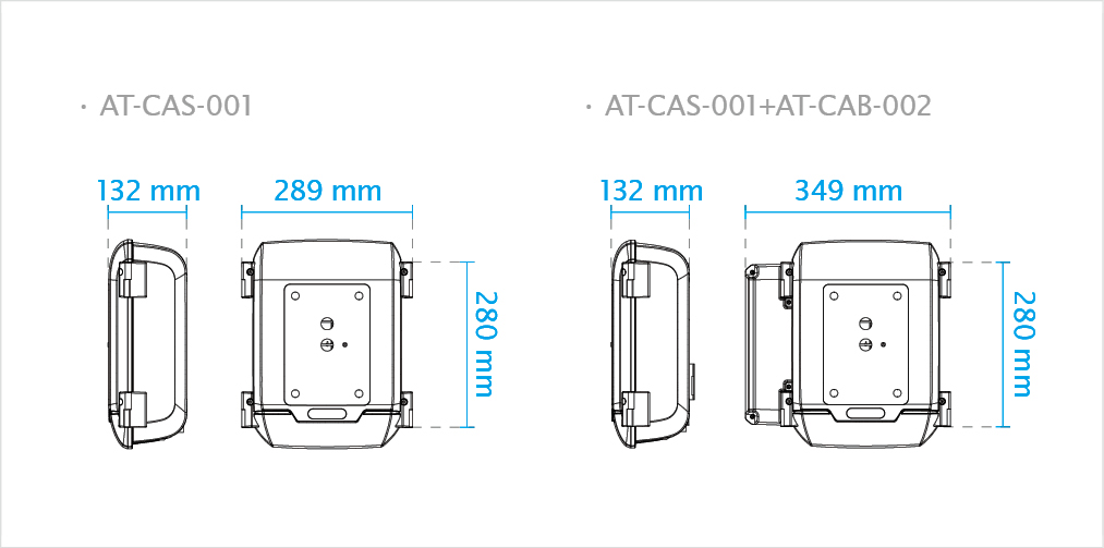 Cabinet Dimensions AT-CAS-001+AT-CAB-002